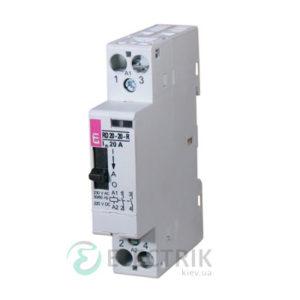 Контактор модульный R-R 20-11 20A 24V AC 1NO+1NC с ручным управлением, ETI (Словения) 2464045