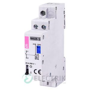 Контактор модульный импульсный RBS 220-10 20A 230V AC 1NO, ETI (Словения) 2464100