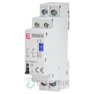 Контактор модульный импульсный RBS 220-20 20A 230V AC 2NO, ETI (Словения) 2464103