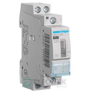 Контактор модульный с ручным управлением ERD225 25А 24В AC 2НО, Hager (Франция)