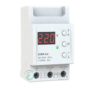 Реле напряжения ZUBR D50t однофазное на DIN-рейку 50А (с термозащитой)