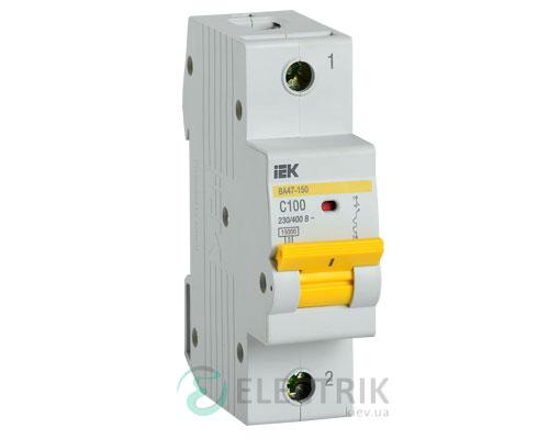 Автоматический выключатель ВА47-150 1Р 100А 15кА C IEK