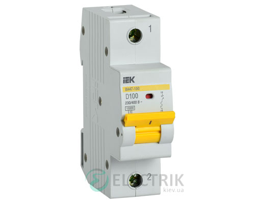 Автоматический выключатель ВА47-150 1Р 100А 15кА D IEK