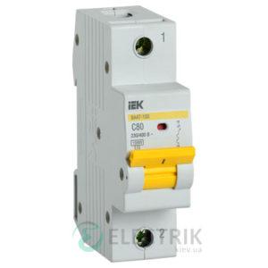 Автоматический выключатель ВА47-150 1Р 80А 15кА C IEK