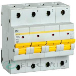 Автоматический выключатель ВА47-150 4Р 125А 15кА D IEK