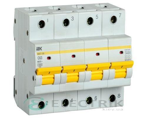 Автоматический выключатель ВА47-150 4Р 63А 15кА C IEK