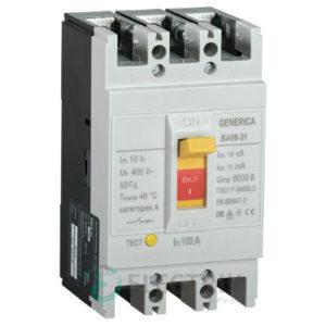 Автоматический выключатель ВА66-31 3Р 100А 18кА GENERICA SAV10-3-0100-G