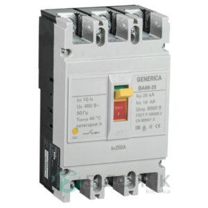 Автоматический выключатель ВА66-35 3Р 250А 25кА GENERICA SAV30-3-0250-G