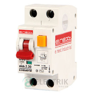 Автоматический выключатель дифференциального тока (дифавтомат) e.industrial.elcb.2.C32.30, 2P 32 А 30 мА хар-ка C, E.NEXT