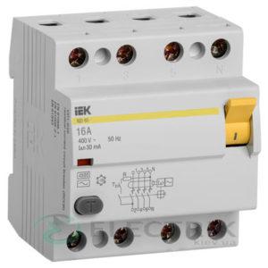 Устройство защитного отключения (УЗО) ВД1-63 4Р 16 А 30 мА тип AC, IEK
