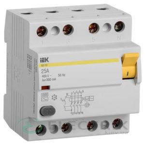 Устройство защитного отключения (УЗО) ВД1-63 4Р 25 А 300 мА тип AC, IEK
