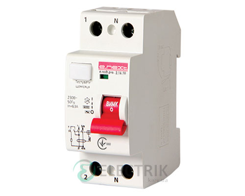Устройство защитного отключения (УЗО) e.rccb.pro.2.63.30, 2р, 63А, 30мА тип AC, E.NEXT