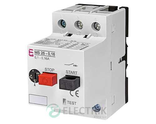 Автоматический выключатель защиты двигателя MS25-0,16 4600010 ETI