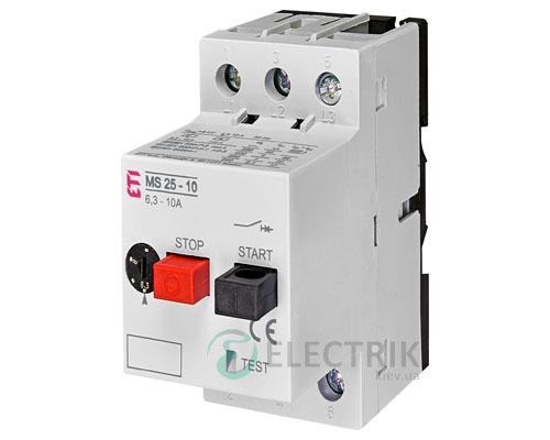 Автоматический выключатель защиты двигателя MS25-10 4600100 ETI