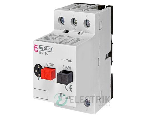 Автоматический выключатель защиты двигателя MS25-16 4600110 ETI