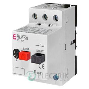 Автоматический выключатель защиты двигателя MS25-20 4600120 ETI