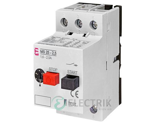 Автоматический выключатель защиты двигателя MS25-2,5 4600070 ETI
