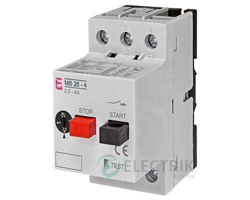 Автоматический выключатель защиты двигателя MS25-4 4600080 ETI