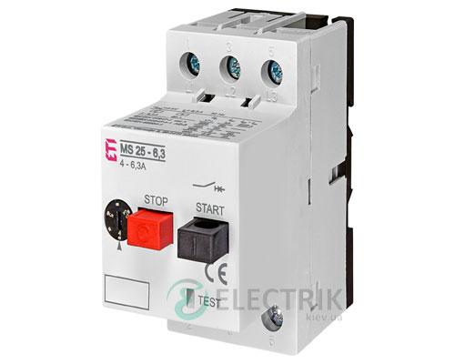 Автоматический выключатель защиты двигателя MS25-6,3 4600090 ETI