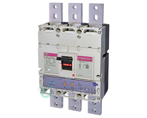 Автоматический выключатель EB2 1000/3Е 1000А (70кА) 3p ETI 4672220