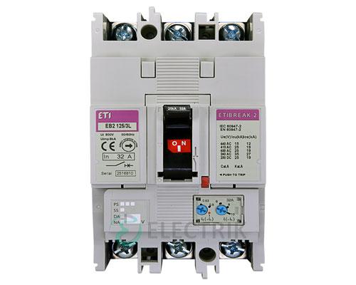 Автоматический выключатель EB2 125/3L 32А (25кА) 3p ETI 4671022