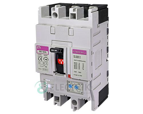 Автоматический выключатель EB2 125/3L 50А (25кА) 3p ETI 4671023