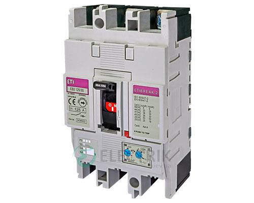 Автоматический выключатель EB2 125/3S 125А (36кА) 3p ETI 4671046