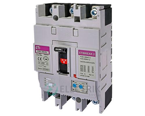 Автоматический выключатель EB2 250/3L 200А (25кА) 3p ETI 4671072