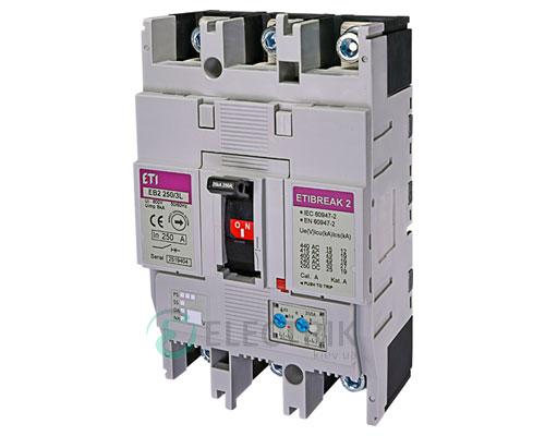 Автоматический выключатель EB2 250/3L 250А (25кА) 3p ETI 4671073