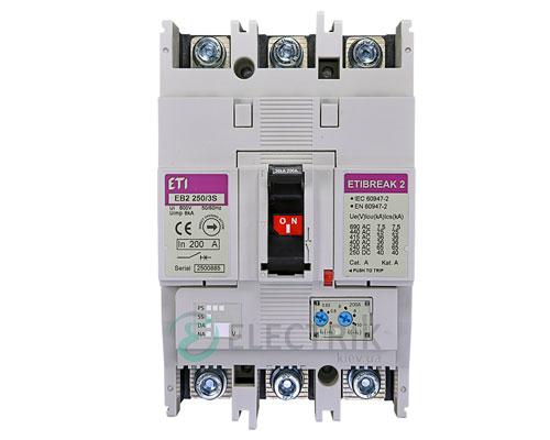 Автоматический выключатель EB2 250/3S 200А (36кА) 3p ETI 4671082