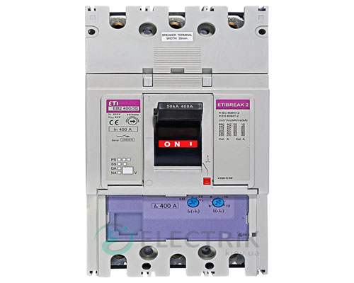 Автоматический выключатель EB2 400/3S 400А (36кА) 3p ETI 4671102