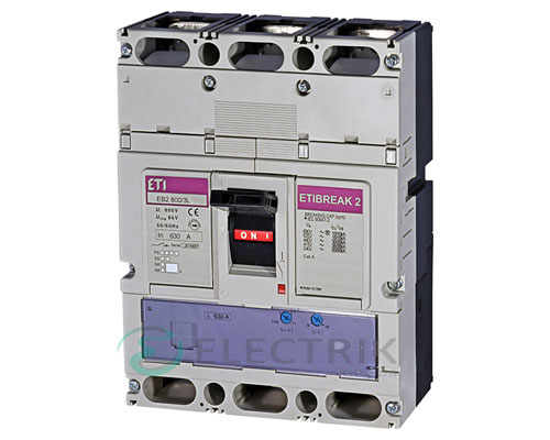 Автоматический выключатель EB2 800/3L 630А (36кА) 3p ETI 4672150