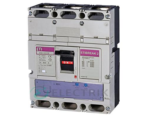 Автоматический выключатель EB2 800/3S 800А (50кА) 3p ETI 4672161