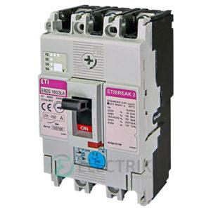 Автоматический выключатель EB2S 160/3LА 100А (16кА) 3p ETI 4671883
