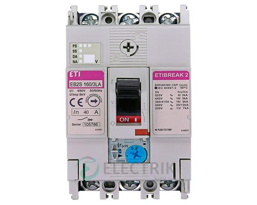 Автоматический выключатель EB2S 160/3LА 40А (16кА) 3p ETI 4671880