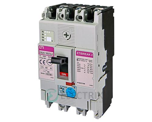 Автоматический выключатель EB2S 160/3LА 80А (16кА) 3p ETI 4671882