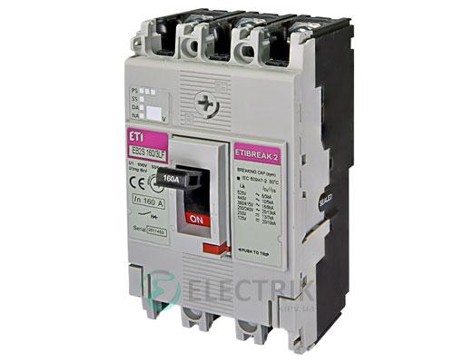 Автоматический выключатель EB2S 160/3LF 160А (16кА) 3p ETI 4671811