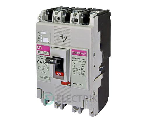 Автоматический выключатель EB2S 160/3LF 20А (16кА) 3p ETI 4671802