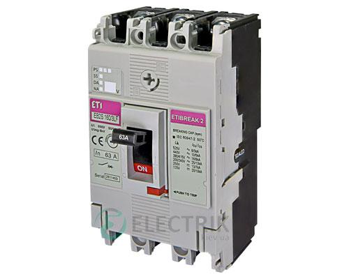 Автоматический выключатель EB2S 160/3LF 63А (16кА) 3p ETI 4671807