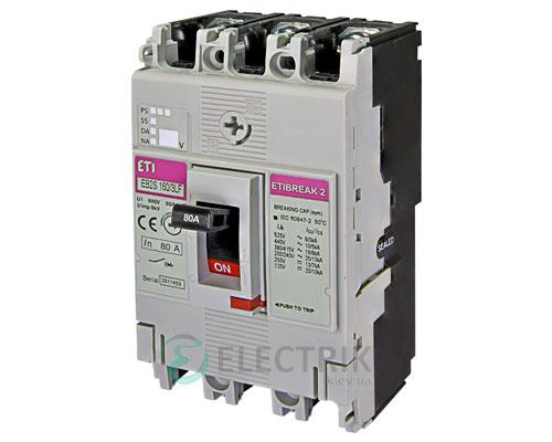 Автоматический выключатель EB2S 160/3LF 80А (16кА) 3p ETI 4671808