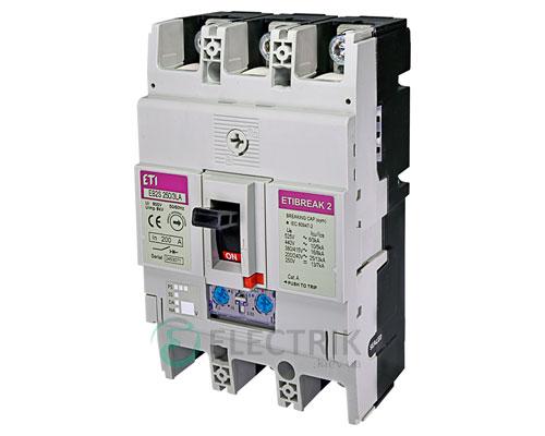 Автоматический выключатель EB2S 250/3LА 200А (16кА) 3p ETI 4671887