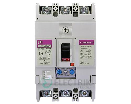Автоматический выключатель EB2S 250/3LА 250А (16кА) 3p ETI 4671888