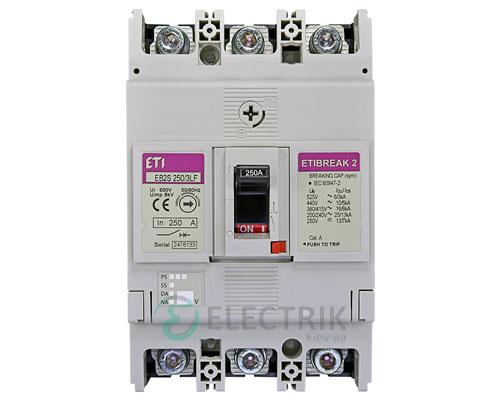 Автоматический выключатель EB2S 250/3LF 250А (16кА) 3p ETI 4671813