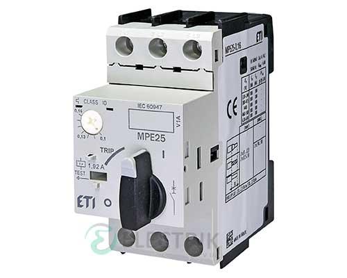 Автоматический выключатель защиты двигателя MPE25-0,16 4648001 ETI