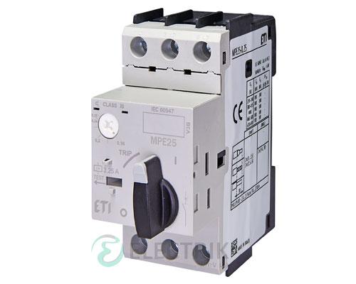 Автоматический выключатель защиты двигателя MPE25-0,25 4648002 ETI