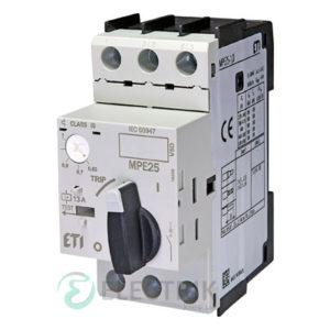 Автоматический выключатель защиты двигателя MPE25-1,0 4648005 ETI