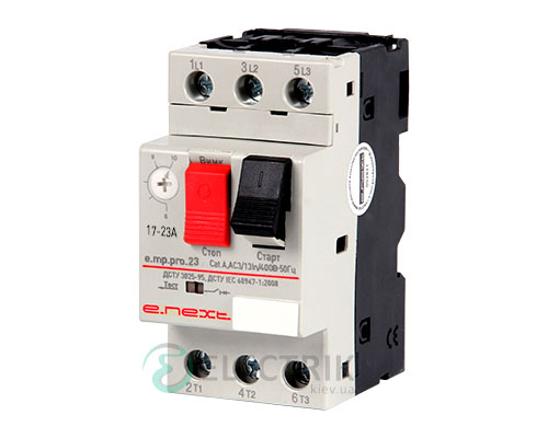 Автоматический выключатель защиты двигателя e.mp.pro.23, 3P In=23А Ir=17-23А, E.NEXT