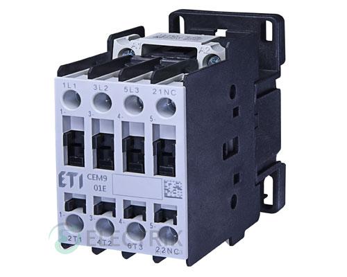 Контактор CEM 09.01 110V/AC 9A 4kW AC3, ETI (Словения)