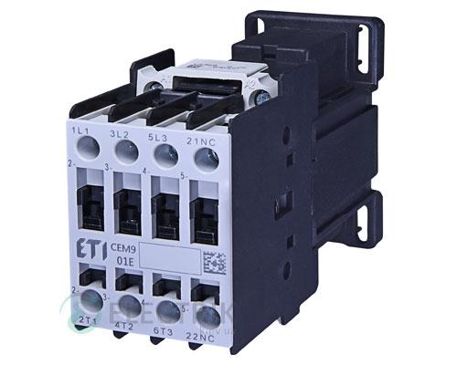 Контактор CEM 09.01 220V/DC 9A 4kW AC3, ETI (Словения)
