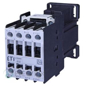 Контактор CEM 09.01 24V/DC 9A 4kW AC3, ETI (Словения)
